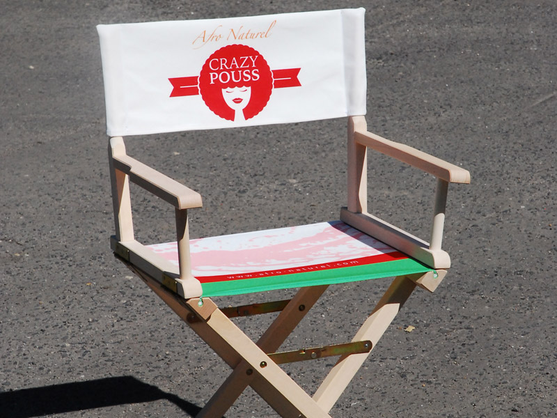 Promotional Director Chairs with print