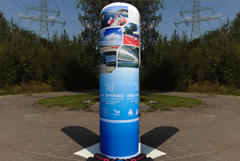 Promotional inflatable pillars