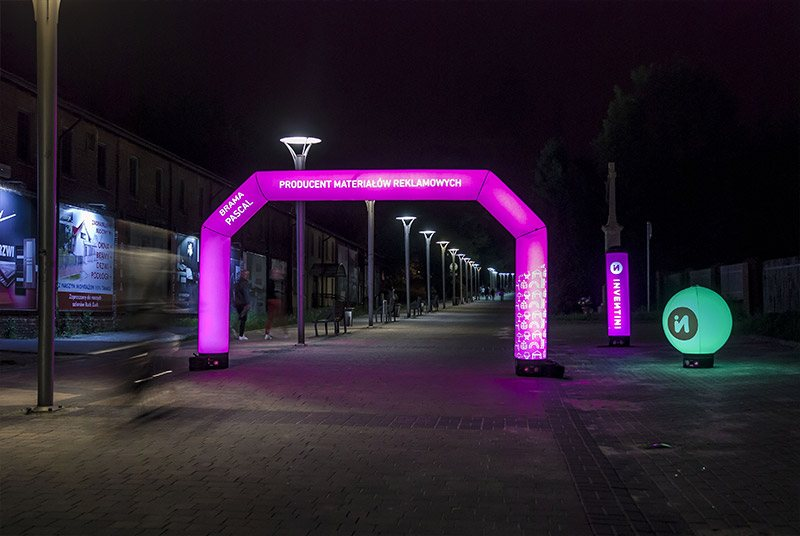 Promotional inflatable arches with print