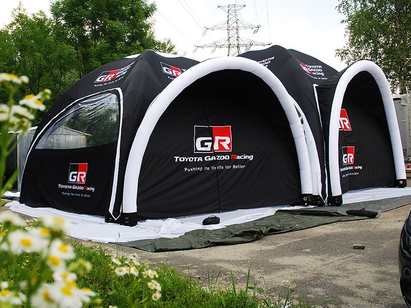 Fixed pressure advertising tents