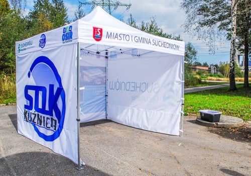 Promotional tents with print