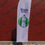 advertising, trade, evetnowa flag, with imprint