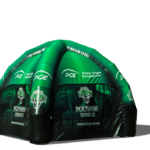 inflatable advertising tents with FAN print, advertising inflatables, inflatable tents, fan tents, business tents, trade tents, tents spiders, 4 foot tents - Inventini manufacturer