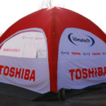 advertising inflatable tent with print, event tent, trade fair tent, commercial tent, inflatable, pneumatic advertising tents, pascal line line, producer of Inventini advertising materials