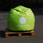 pouf paving, advertising pouffe, pouffe with print, event pouf, commercial pouffe
