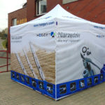 Technical tents, work tents, welding tents, tents for construction works, assembly tents, pavement tents, railway tents. Jpg
