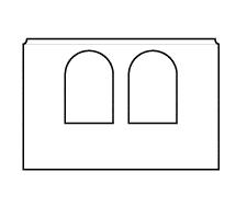 ściana z dwoma oknami