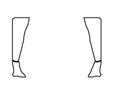 ozdobne zasłonki na nogi