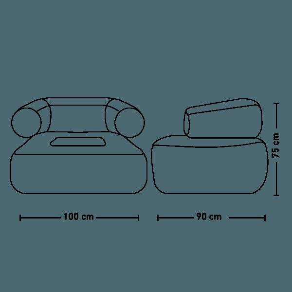 fotel pascal wymiary