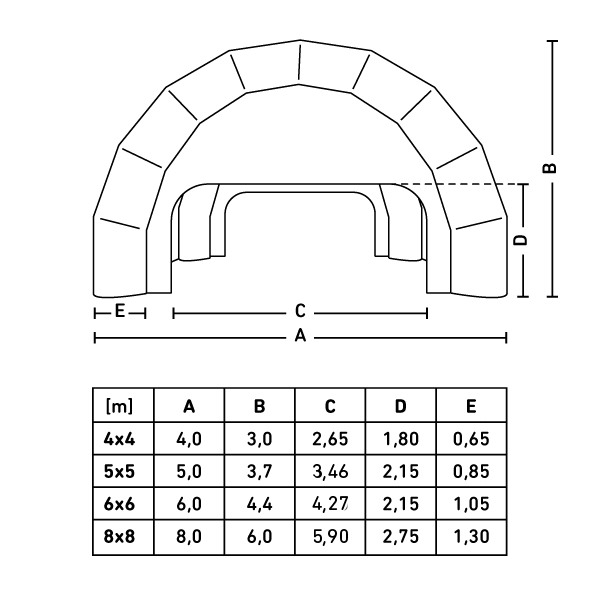 Wymiary Namiot Pajak V2