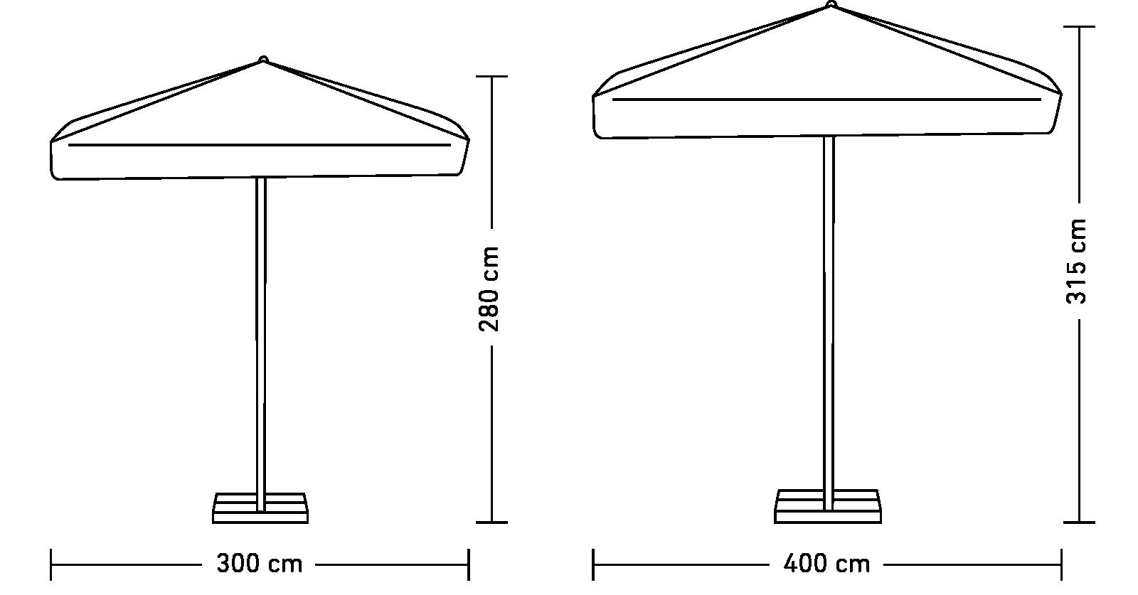 Parasol Kwadratowy
